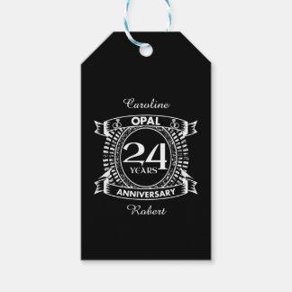 24ème opale d'anniversaire de mariage étiquettes-cadeau
