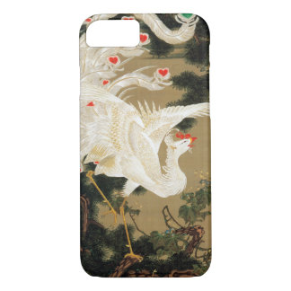 25. 老松白鳳図, pin et Chinois Phoenix, Jakuc de 若冲 Coque iPhone 7