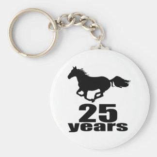 25 ans de conceptions d'anniversaire porte-clé rond