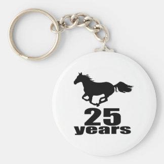 25 ans de conceptions d'anniversaire porte-clés