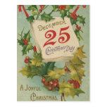 25 décembre jour de Noël Carte Postale
