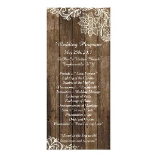 25 programmes en bois de mariage campagnard de