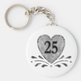 25ème anniversaire - argent porte-clés