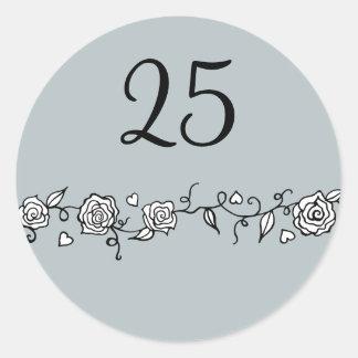 25ème Autocollants d'anniversaire de noces