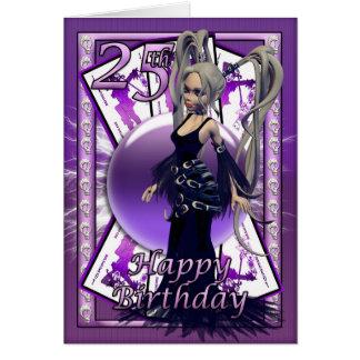 25ème Carte d'anniversaire avec la poupée