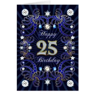 25ème carte d'anniversaire avec les masses des