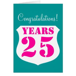 25ème Carte d'anniversaire de mariage