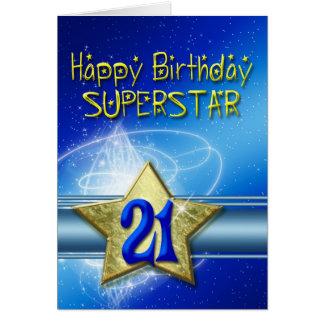 25ème Carte d'anniversaire pour le superstar