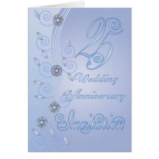 25ème Carte d'invitation d'anniversaire de mariage