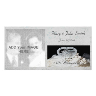 25ème Carte photo d anniversaire de mariage Photocarte Customisée