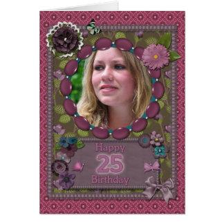 25ème Carte photo pour un anniversaire