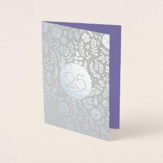 25ème Cartes de voeux d'anniversaire de noces