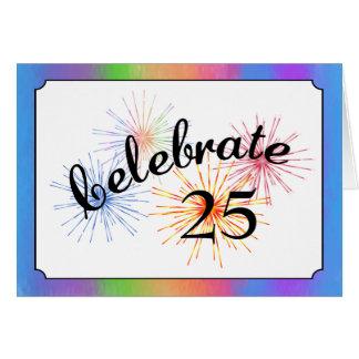 25ème Célébration d'anniversaire Carte De Vœux