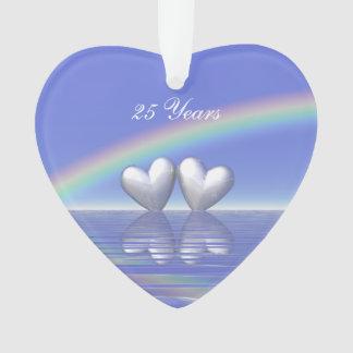 25ème Coeurs argentés d'anniversaire