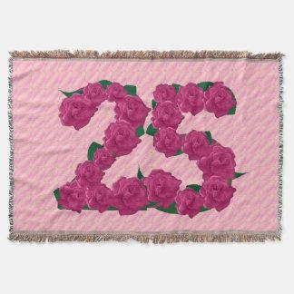 25ème couverture d'anniversaire de 25 de rose