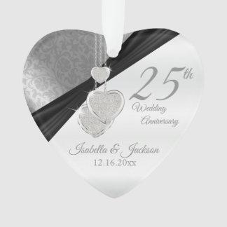 25ème Souvenir d'anniversaire de noces d'argent