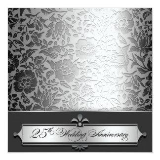 25èmes invitations chics d'anniversaire de mariage