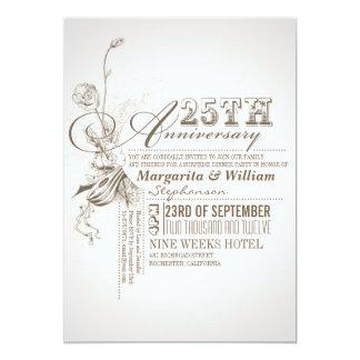 25èmes invitations d'anniversaire de belle