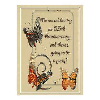 25èmes invitations décontractées d'anniversaire