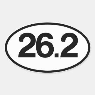 26,2 Autocollant (plein autocollant de marathon)