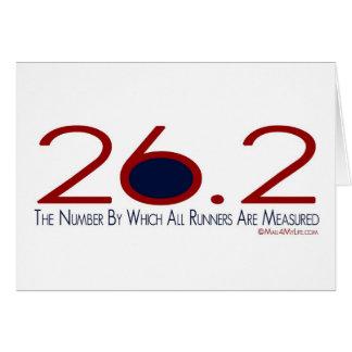 26,2 La bonne chance de nombre Carte De Vœux