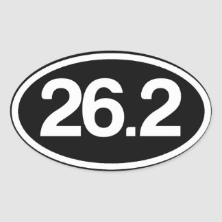 26,2 Plein autocollant de marathon