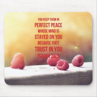 26:3 parfait d'Isaïe de paix Tapis De Souris