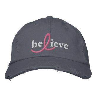 ($26,95) Croyez le casquette de ruban de cancer du