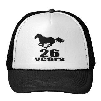 26 ans de conceptions d'anniversaire casquettes