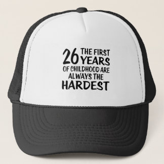 26 les premières conceptions d'anniversaire casquette trucker