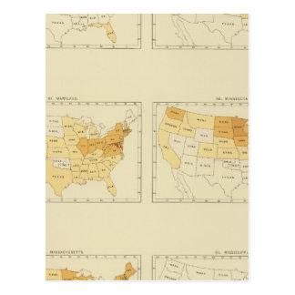 26 migration d'un état à un autre 1890 MEMS Carte Postale