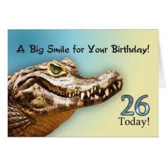 26ème Carte d'anniversaire