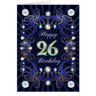 26ème carte d'anniversaire avec les masses des