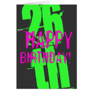 26ème Cartes d'anniversaire pour les hommes et des