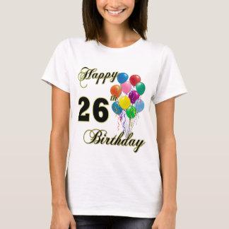 26ème T-shirt heureux de ballon d'anniversaire
