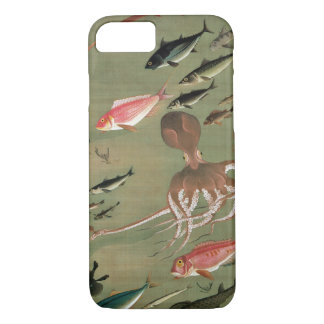 27. 諸魚図, divers poissons de 若冲, Jakuchū, art du Coque iPhone 7