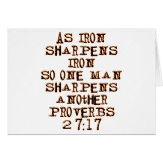 27:17 de proverbes carte de vœux