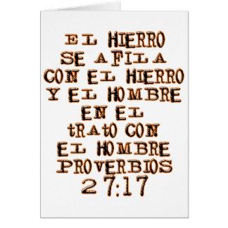 27 17 de proverbes carte de vœux