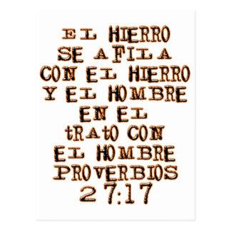 27:17 de proverbes carte postale