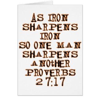 27:17 de proverbes cartes