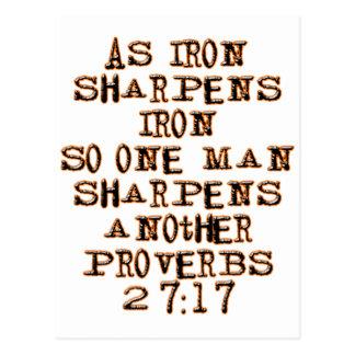 27:17 de proverbes cartes postales