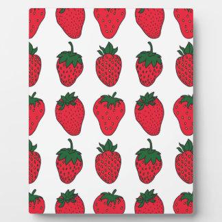 27 février - jour de fraise photos sur plaques