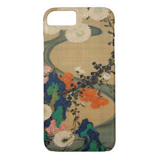 29. 菊花流水図, chrysanthème de 若冲 et courant, Jakuchū Coque iPhone 7