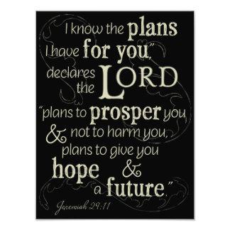 29:11 de Jérémie je sais les plans que je prends Impression Photo