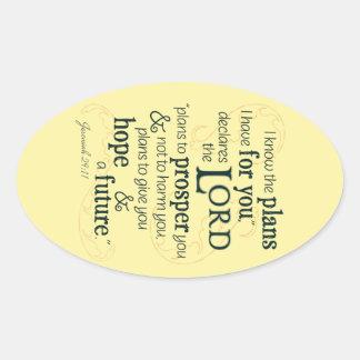 29:11 de Jérémie je sais les plans que je prends Sticker Ovale