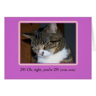 29 encore ? Carte d'anniversaire avec la photo
