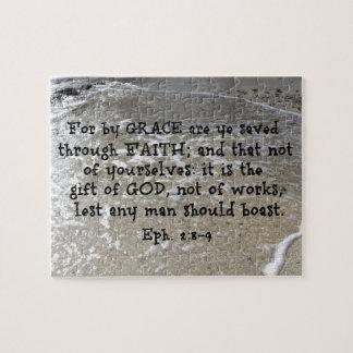 2:8 d'Ephesians - 9 pour par la grâce sont le YE Puzzle