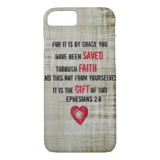 2:8 d'Ephesians de vers de bible Coque iPhone 7