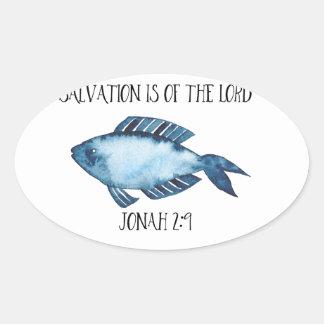2:9 de Jonas Sticker Ovale