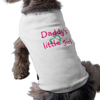 2 coeurs, la petite fille du papa t-shirt pour chien